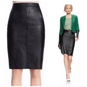 CAbi 509 fleather faux leather pencil skirt 12